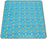 Picnic Mat, Oxford Cloth, Bear Prints, 200x180 cm