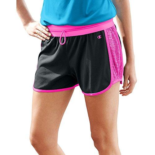 Champion Damen Short Black/Pinksicle Heather/Pinksicle