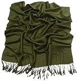 CJ Apparel Avocado-Grün Einfarbiges Design Stola Schal Umschlagtuch Schultertuch Tuch