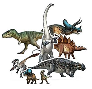 STAR CUTOUTS TT010 Natural History Museum - Juego de mesa y escritorio para fiestas de dinosaurios, decoración y coleccionistas, multicolor