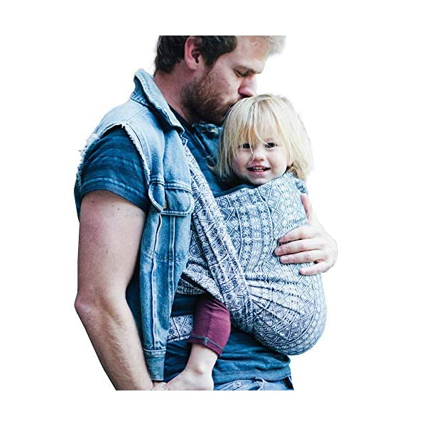 Didymos Indio Baby Wrap Sling (Size 4, Dark Blue/White) Didymos Various carrying positions, in front, sideways an on the back Special, diagonally stretchable cloth to give optimal support Holds your baby in the atomically correct posture 1