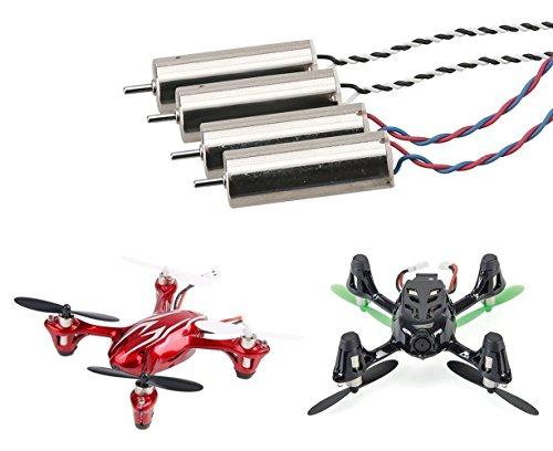 YUNIQUE DEUTSCHLAND ® 4pcs ursprüngliche echte Motoren RC Ersatzteile für Mini-Drohne Quadrocopter Hubsan X4 H107C H107D(8.5mm x 20mm) - 2