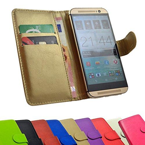 ikracase 2 in 1 set Hisense HS-G610M Smartphone - Handyhülle Handy Tasche Slide Kleber Schutz Case Cover Etui Schutzhülle Handytasche Book Style + Touch PEN in Gold Farbe