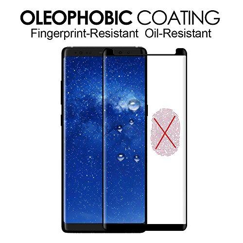 Samsung Galaxy S9 Plus Protezione schermo in vetro temperato, by dn-alive  [3D Glass] [nero] [durezza 9H] [anti-graffio] [infrangibile] [FACILE