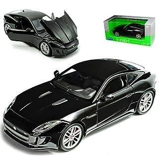 alles-meine.de GmbH Jaguar F-Type Coupe Schwarz Ab 2013 1/24 Welly Modell Auto mit individiuellem Wunschkennzeichen