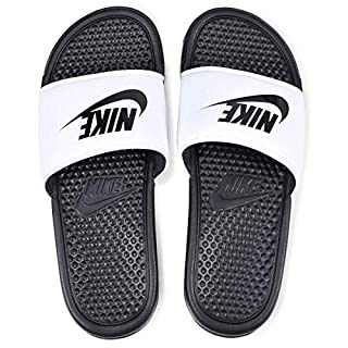 Nike Benassi Jdi Slide, Men's Beach & Pool Flip Flops, Multicolored (White / Black), 10 UK (45 EU)