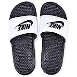 Nike Benassi Jdi, Herren Flip Flop, Mehrfarbig (Blanco/Negro), 41 EU