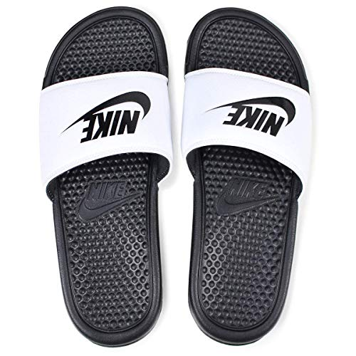 Nike - Benassi - Tongs  - Homme - Blanc (White/Black Black) - 38.5