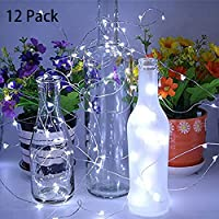 LED tapón, Big House 2 m lámparas de botella con 20 LED, 12 piezas