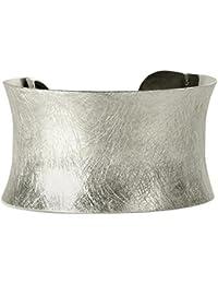 SILBERMOOS Außergewöhnlicher Damen Armreif Armspange gebürstet 925 Sterling Silber