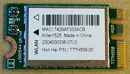 Killer AC 1525m.2Notebook WLAN-Netzwerkkarte mit Bluetooth 4.0