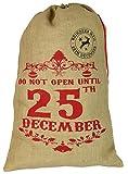 Sac en toile de jute/chaussette de Noël - « Do Not Open Until 25th December »