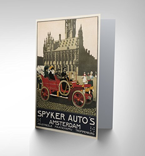 automobile-car-spyker-amsterdam-netherlands-birthday-blank-greetings-card-cp1010