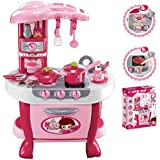 Little Chef Kids Kitchen Play Set With Light & Sound Cooking Kitchen Set Play Toy 31 Pcs