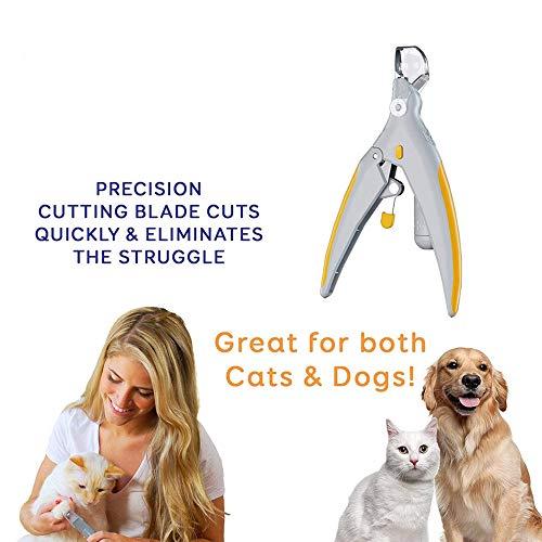 WZRYJS Dog Nagelknipser Trimmer mit Quick Sensor und Safety Guard für Kleine, mittelgroße Hunde und Katzen Claw Clippers, Pet Nagelschneider für Dicke Nägel mit LED Lichter