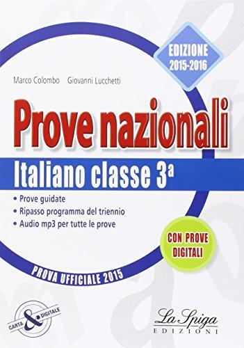 Prove nazionali. Italiano. Prove Invalsi. Per la Scuola media