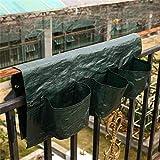 DaDago 6 Taschen Garten Balkon Hängetopf Pe Pflanzbeutel Pflanzen Baluster Geländer Grow Bags Blumentopf