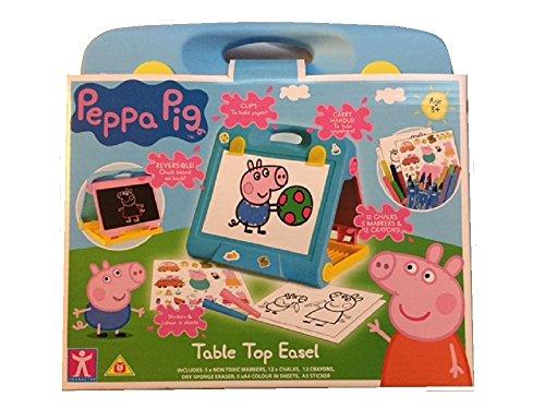 Peppa Pig - Ensemble d'activités de dessin pour chevalet réversible