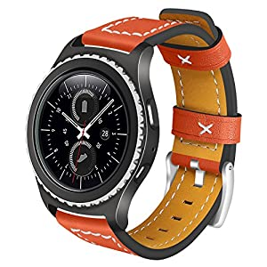 Gear S2Classic/Gear Sport Lederband angolf 20mm Leder Smart Watch Band Ersatz Armband Armband für Samsung Gear S2Classic R732/R735/Gear Sport R600/Moto 3602nd Gen 42mm