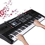 Teclado Electrónico Piano 61 Teclas, RenFox Keyboard Piano Portátil USB Piano Digital...