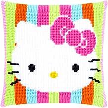 Vervaco PN-0153770 VER - Cojín de punto de cruz diseño de Hello Kitty a