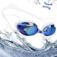 rabofly Gafas de Natación, Protección UV Antiniebla Gafas de nado Impermeable y Vista Clara Gafas para Nadar para Unisex Adulto y Niños (10 años+), Color Azul