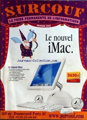 CATALOGUE SURCOUF du 01/02/2002 - LE NOUVEL IMAC