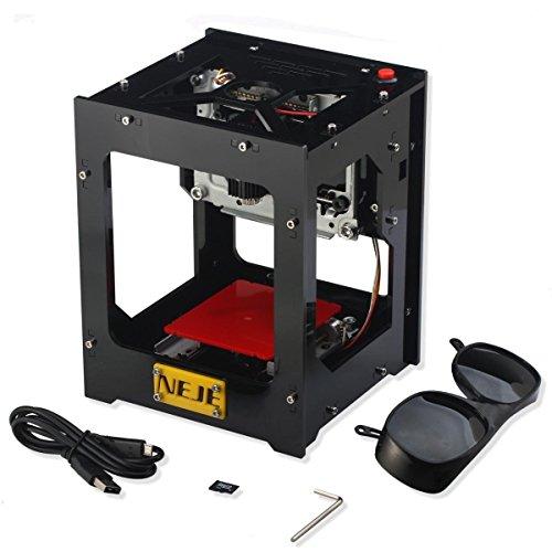 Preisvergleich Produktbild ZJchao Graviermaschine Automatische DIY Druck Engraving Carving-Maschine DK-BL 1500mW Bluetooth/6000mAh
