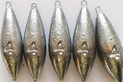 4oz Plain Sea Fishing Weights Pack Of 5 by fishwithfinn