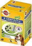 PEDIGREE DENTASTIX Fresh Dental Chews - Medium Dog, Pack of 4 (Total 4 x 28 Sticks)