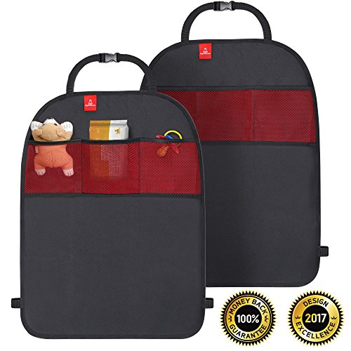 ROYAL RASCALS   Tappetini Paracalci x2   Protegge la Tappezzeria dell'Automobile   Organizzatore con Tasche   Misura Universale   Protezione Resistente contro Calci e Macchie   PRODOTTO PREMIUM