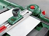 Bosch DIY Sägestation PLS 300 Set, 9 Sägeblätter, Fliesenschneider PTC 1, 2 Brechkegel, Skalenanschlag, Karton (Max. Schnittlänge Fliese 340 mm, max Schnittlänge Holz 25 mm, Gehrungswinkel +-45°) -