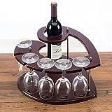 KMYX Modelle Liebe Heart-Shaped Weinregal Europäischen Holz Wein Flaschenregal Küche Kochen Esszimmer Bar Zubehör Inverted Cup Halter Display Stände