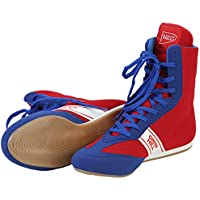 GreenHill Chaussure de Boxe,Bottes d'Entraînement High-Top Boxing Boots Bottes de Boxe for Boxing Professional Training.