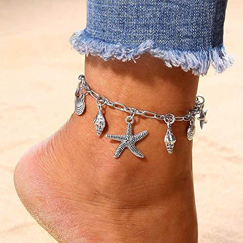 Bobopai Women Girls Ankle Chain Anklet Bracelet Foot Jewelry Sandal Beach - Bohemian Style Adjustable - Cord Bär Kostüm