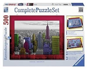 Ravensburger - Complete Puzzle: set Colores de Nueva York, puzzle de 500 piezas (14894 3)