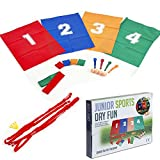 Junior Activities Sports Day Fun 4 in 1 Party Games - Egg Spoon, Sack Race etc..