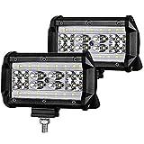 2 X 84W Focos de Coche LED Potentes, 12V-24V Lampara de coche Faros de trabajo IP67 Impermeable de Faros Adicionales Blanco Frío Para off-road, Tractor, Camión, Moto