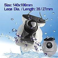 BINGO Borsa Cassa Contenitore Protettiva impermeabile sott'acqua per la macchina fotografica digitale, dimensioni: 140 x 106 mm, diametro della lente./ Lunghezza: 35/27 millimetri (bianco)