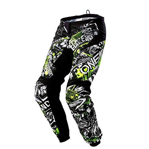 O'Neal Element Attack Motocross Hose Kinder Hose MX Enduro Offroad Motorrad Quad Cross Kids Pants, 0108, Farbe Schwarz Hi-Viz Gelb, Größe 24 (Motorrad-hose Off-road)