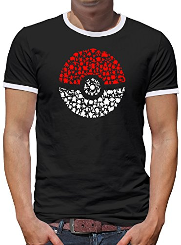 Halloween Saiyajin Kostüme Super (TLM Poke Kontrast T-Shirt Herren XXL)