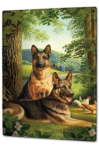 Blechschild XXL Hunde Rasse Schäferhund Bauernhof Wald (Schäferhund Rasse)