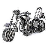 Kentop Modell Motorrad Metall Retro Motorradmodell Kreative Handwerk Geschenk für Freund Papa Fotografie Dekor Requisiten