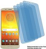 4x Crystal clear klar Schutzfolie für Motorola Moto E5 Displayschutzfolie Bildschirmschutzfolie Schutzhülle Displayschutz Displayfolie Folie