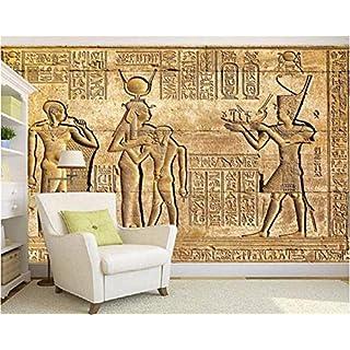 Ytdzsw Custom Silk Material Costom Wallpaper Hd Egyptian Reliefs Mural Mythology Pharaoh Tv Background Wall 3D Wallpaper -300X210Cm
