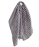 SugarShock Pepita Frisuren Haar Tuch Pin Up Nickituch Bandana, Farbe:schwarz weiss, Größe:onesize