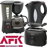3-teiliges Frühstücksset schwarz AFK FSTS15
