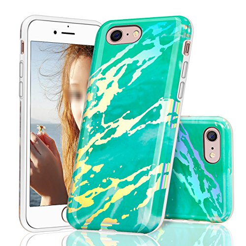 iPhone 8 Hülle,Vandot 0.5MM 3D HD Exklusive TPU Silikon Hülle für iPhone 8 4.7 Zoll Muster Pattern Protektiv Case Skin Back Cover Tasche Anti Finger Kratzfeste Premium Schutzhülle Handytasche Handy Ta Einloch Muster 1