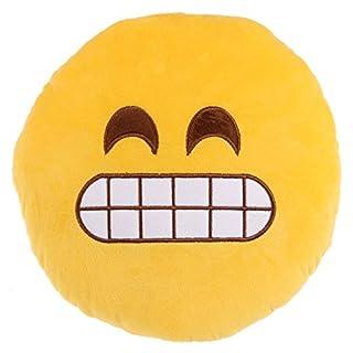 Grit Teeth Emoji Cushion Grimace Emoticon Pillow Soft Plush Cuddly Toy