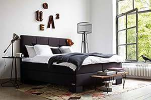 schlaraffia aktions boxspringbett saga anthrazit 180x200 cm k che haushalt. Black Bedroom Furniture Sets. Home Design Ideas